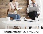 portrait of smart businessmen... | Shutterstock . vector #276747272