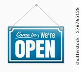 retro open sign  blue color | Shutterstock .eps vector #276765128