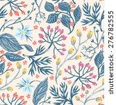 vector floral seamless pattern... | Shutterstock .eps vector #276782555