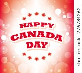 happy canada day greeting card... | Shutterstock .eps vector #276784262