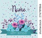 blue  pink  purple card... | Shutterstock .eps vector #276789866