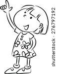 little girl pointing up | Shutterstock .eps vector #276797192