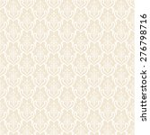 elegant vintage seamless... | Shutterstock .eps vector #276798716