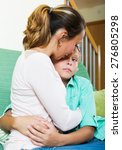 woman comforting crying... | Shutterstock . vector #276805298
