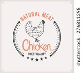 butcher shop logo  meat label... | Shutterstock .eps vector #276811298