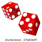 casino dice. vector without...   Shutterstock .eps vector #27682609