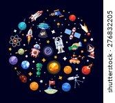 circle vector flat design... | Shutterstock .eps vector #276832205