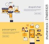 taxi call. dispatcher receives... | Shutterstock .eps vector #276835325