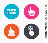 circle buttons. click here... | Shutterstock .eps vector #276837776