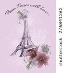 gift card  welcome to paris... | Shutterstock .eps vector #276841262