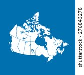 map of canada | Shutterstock .eps vector #276843278