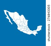 map of mexico | Shutterstock .eps vector #276843305
