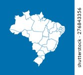 map of brazil   Shutterstock .eps vector #276843356