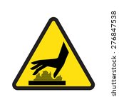 caution hot surface sign | Shutterstock .eps vector #276847538