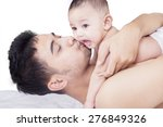 portrait of young father...   Shutterstock . vector #276849326