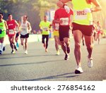 marathon running race male... | Shutterstock . vector #276854162