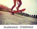young skateboarder...   Shutterstock . vector #276854462