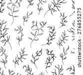 black and white floral seamless ... | Shutterstock .eps vector #276855275