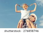 Dad And Daughter In Sunglasses...