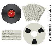 set with vintage media. punch... | Shutterstock .eps vector #276862376