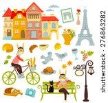 collection of cartoon symbols... | Shutterstock .eps vector #276863282
