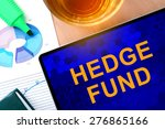 words hedge fund  on the tablet ... | Shutterstock . vector #276865166