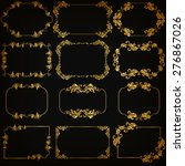 vector set of decorative hand... | Shutterstock .eps vector #276867026
