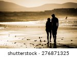 Silhouette Of The Loving Couple ...