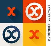 x letter line logo set  design ... | Shutterstock .eps vector #276874196