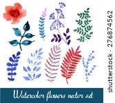 set of beautiful watercolor... | Shutterstock .eps vector #276874562