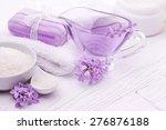sea salt and essential oils ...   Shutterstock . vector #276876188