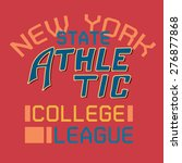 state athletic typographic for...   Shutterstock .eps vector #276877868