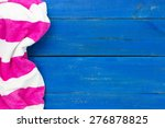 Blank Rustic Blue Wooden Beach...