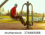 Young Athlete Working Out In A...