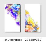business card with floral... | Shutterstock .eps vector #276889382