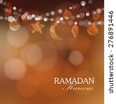 ramadan moon  stars  lights.... | Shutterstock .eps vector #276891446