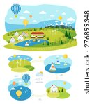 infrastructure flat  landscape... | Shutterstock .eps vector #276899348