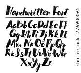 hand drawn alphabet written... | Shutterstock .eps vector #276900065
