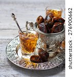 traditional arabic tea and dry... | Shutterstock . vector #276900662
