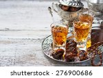 traditional arabic tea and dry... | Shutterstock . vector #276900686