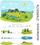 infrastructure flat  landscape... | Shutterstock .eps vector #276903176