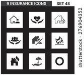 9 application insurance icons... | Shutterstock .eps vector #276904352