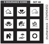 9 application insurance icons...   Shutterstock .eps vector #276904352