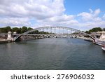 rail bridge in paris  france.... | Shutterstock . vector #276906032