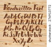 hand drawn alphabet written... | Shutterstock .eps vector #276913772