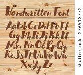 hand drawn alphabet written...   Shutterstock .eps vector #276913772
