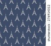 paris eiffel tower seamless...   Shutterstock .eps vector #276914312