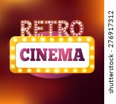 retro cinema billboard with... | Shutterstock .eps vector #276917312
