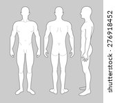 male body from three angles | Shutterstock .eps vector #276918452