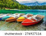 Colorful Boats On The Crystal...